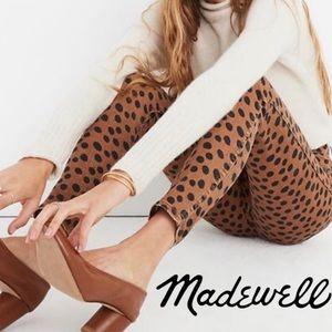 Madewell Leopard Print Hi Rise Skinny Jean